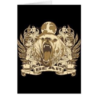 Grunge Bear Card