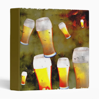 Grunge Beer 3 Ring Binder