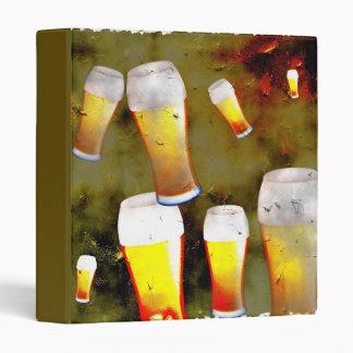 Grunge Beer 3 Ring Binder