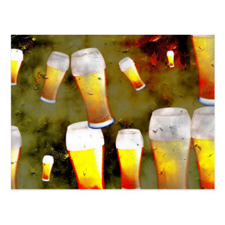 Grunge Beer Postcard