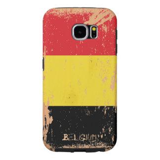 Grunge Belgium Flag on Wood Samsung Galaxy S6 Case