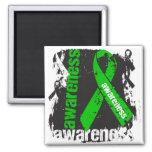 Grunge Bile Duct Cancer Awareness Fridge Magnets
