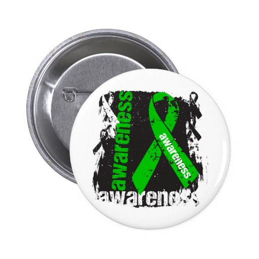 Grunge Bile Duct Cancer Awareness Pinback Buttons