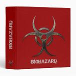 """Grunge Biohazard organizer - 1.5"""" Binder"""