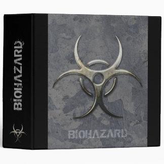 """Grunge Biohazard organizer - 2.0"""" Binder"""