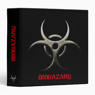 Grunge Biohazard organizer 3 Ring Binder