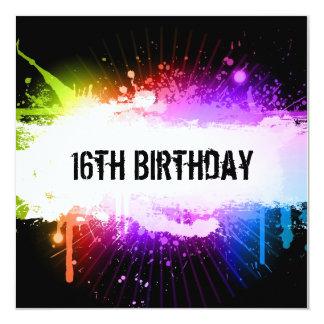 Grunge Birthday Invitation
