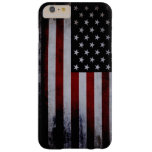 Grunge Black American Flag Barely There iPhone 6 Plus Case