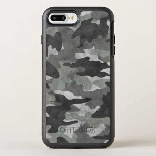 size 40 d1934 a5dd5 Grunge Black and Gray Camo Camouflage Pattern Cool OtterBox iPhone Case