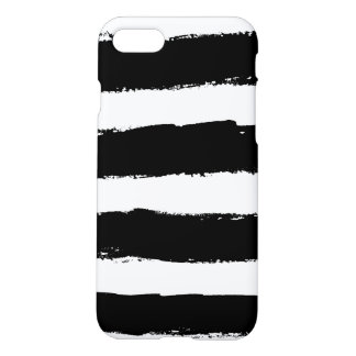 Grunge Black and White Stripes iPhone 8/7 Case