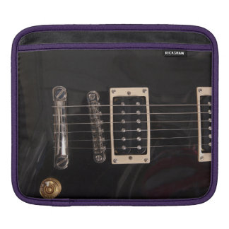 Grunge Black Electric Guitar Strings iPad Case