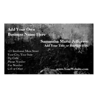 Grunge Black Paint Faux Finish Design Double-Sided Standard Business Cards (Pack Of 100)