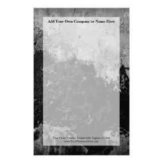 Grunge Black Paint Faux Finish Design Customized Stationery