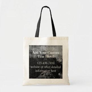 Grunge Black Paint Faux Finish Design Tote Bag