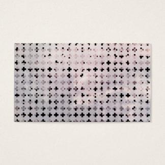Grunge Black White Faded Cross Geometric Pattern Business Card
