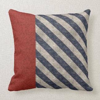 Grunge blanco y azul rojo americana almohadas