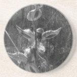 Grunge blanco y negro del Milkweed Posavasos Manualidades