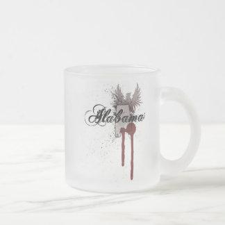 Grunge Blood Splatter Alabama Mug Glass