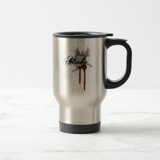 Grunge Blood Splatter Alaska Travel Mug