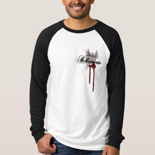 Grunge Blood Splatter Arkansas T-Shirt Jersey