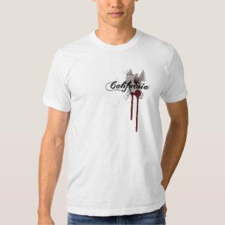 Grunge Blood Splatter California T-Shirt