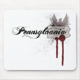 Grunge Blood Splatter Pennsylvania Mousepad