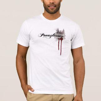 Grunge Blood Splatter Pennsylvania T-Shirt