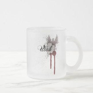 Grunge Blood Splatter Utah Mug Glass