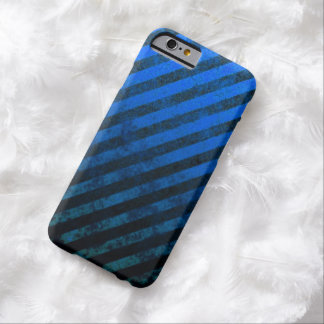 Grunge Blue And Black Striped iPhone 6 Case