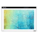 Grunge blue and yellow wall decal for laptop