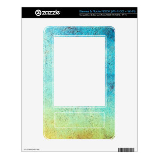 Grunge blue and yellow wall NOOK skin