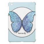 Grunge Blue Butterfly iPad Case