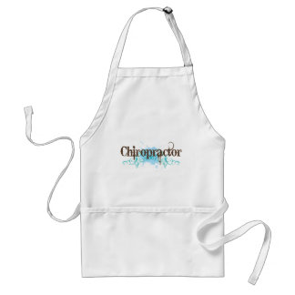 Grunge Blue Chiropractor Occupation Gift Adult Apron