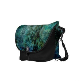 Grunge Blue Green Black Rickshaw Messenger Bag