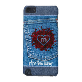 Grunge Blue Jeans Pocket Stone Wash Red Splatter iPod Touch 5G Case