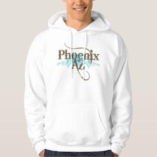Grunge Blue Phoenix AZ Arizona Hoodie Gift