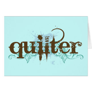 Grunge Blue Quilter Gift Card