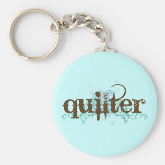 Grunge Blue Quilter Gift Key Chains