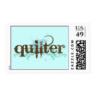 Grunge Blue Quilter Gift Postage