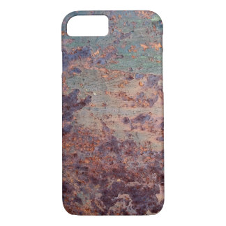 Grunge Blue Rusted Metal Pattern iPhone 7 Case