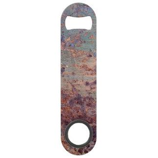 Grunge Blue Rusted Metal Pattern Speed Bottle Opener