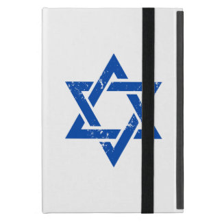 Grunge Blue Star of David Covers For iPad Mini