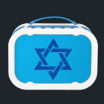 """Grunge Blue Star of David Lunch Box<br><div class=""""desc"""">Grunge Blue Star of David. A great design for any Israeli or Jewish related gift. The star of David is an old Jewish symbol found on the flag of the land of Israel.The star of David is called &#39;Magen David&#39; in Hebrew which means &#39;The Shield of David&#39;. This design could...</div>"""