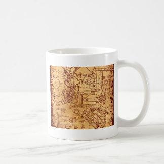 Grunge blueprint coffee mug