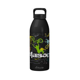 Grunge BMX Bike Water Bottle