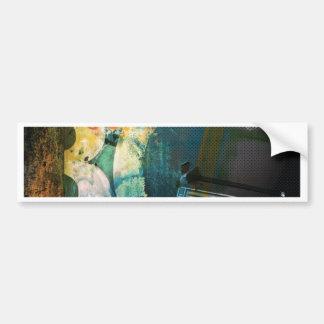 Grunge Boombox Bumper Sticker