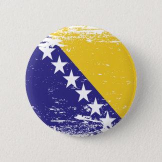 Grunge Bosnia and Herzegovina Flag Button