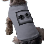 Grunge Bow on black Dog T-shirt