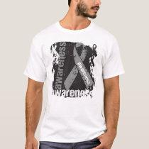 Grunge Brain Cancer Awareness T-Shirt