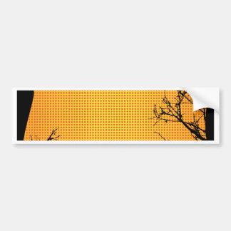 Grunge Branches Car Bumper Sticker